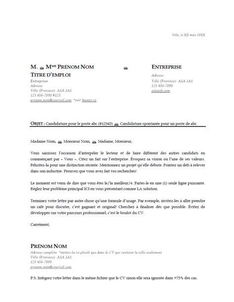 Lettre De Présentation Pour Entreprise L 蜥il Du Recruteur Mod 232 Le De Cv 224 T 233 L 233 Charger Gratuit Et Efficace