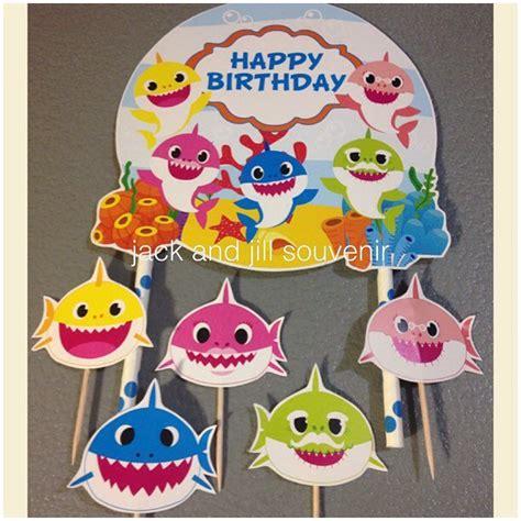 baby shark decorations jack jill souvenir on twitter quot cake topper baby shark
