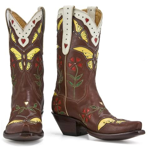 butterfly boots butterfly cowboy boots