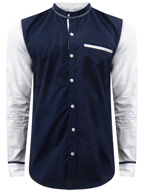 Where To Get Shirts Feelit Navy White Casual Shirt C103179370 Cilory