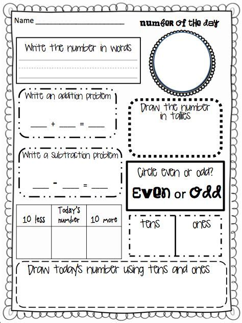 number of the day worksheet 25 best ideas about todays number on daily