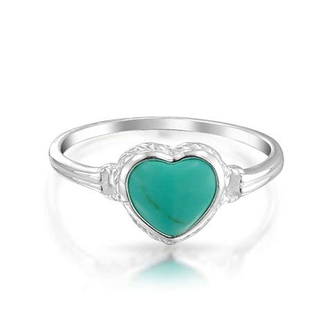 sterling silver gemstone turquoise ring antiqued sterling silver
