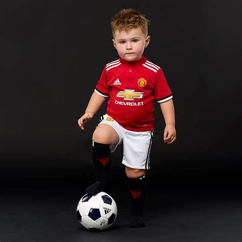 manchester united  home  kids kit az boys replica shirts red