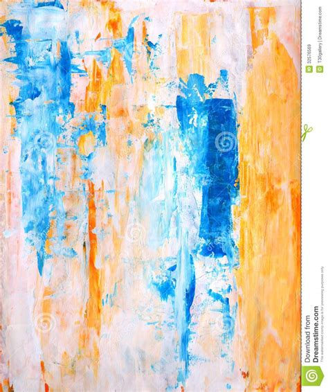 painting for free teal and orange abstract painting royalty free stock