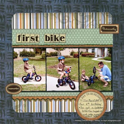 scrapbook layout cycling first bike scrapbook com scrapbooking ideas pinterest