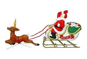 General foam santa sleigh and reindeer christmas lights creations