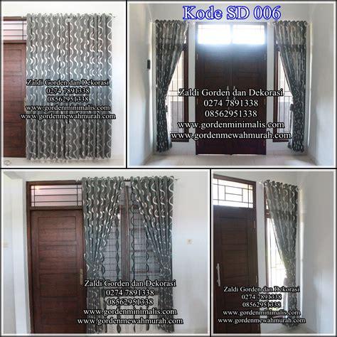 Gorden Murah Tirai Pintu Maudy Hijau gorden import cantik sd 006 model gorden rumah minimalis modern terbaru
