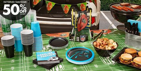 nfl carolina panthers supplies decorations