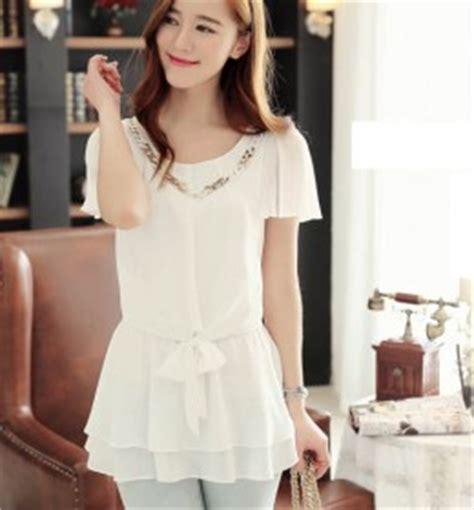 Atasan Cewek Hitam Katun Murah Import Cina Korea Style 1 baju atasan wanita brokat hitam model terbaru jual murah import kerja