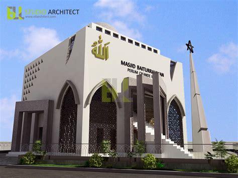 contoh desain gapura masjid grc hexacon indonesia ornamen grc dan roster beton 10