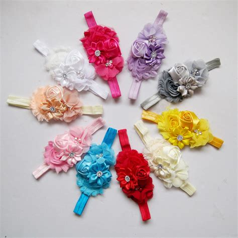Handmade Baby Headbands - strentch top bow mix colors handmade baby headbands buy