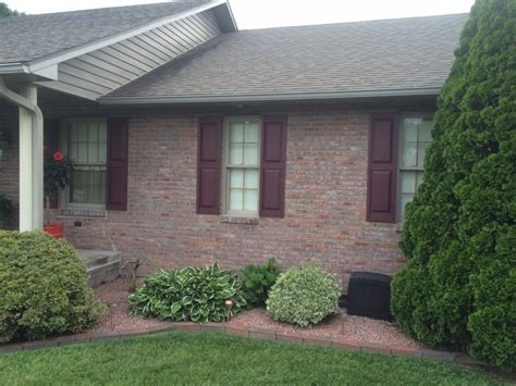 shutter colors for brick house shutter replacement davis home improvement