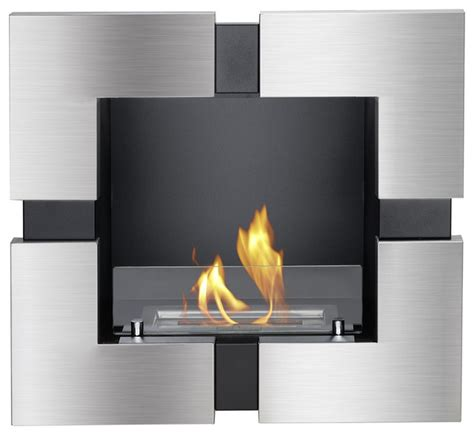tokio recessed ventless ethanol fireplace modern