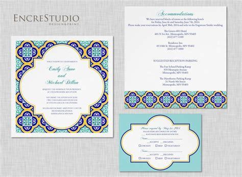 Printable Spanish Tiles  Ee  Wedding Ee    Ee  Invitation Ee    Weddbook