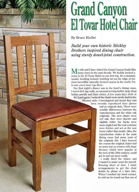 Wooden Dining Chair Plans Dining Room Chair Plans Woodarchivist