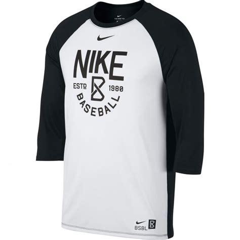 Nike Tshirt Baseball nike dri fit s 3 4 sleeve baseball t shirt