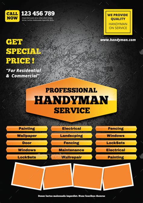 Handyman Flyer By Monggokerso Graphicriver Handyman Flyer Template Free