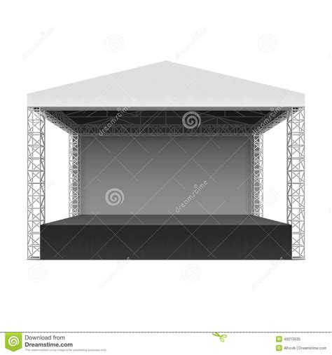 Red Awning Outdoor Concert Stage Stock Vector Image 49213535