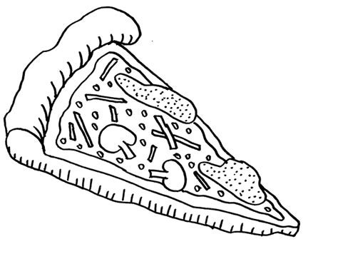 pizza coloring pages for childrens printable for free
