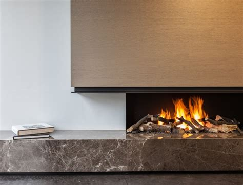 modern fireplace hearth fireplace with emperador marble pinteres