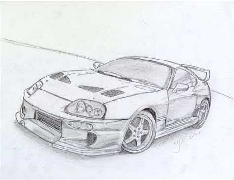 Toyota Supra Drawing Toyota Supra Drawing Ride A Quot Cart Quot Toyota