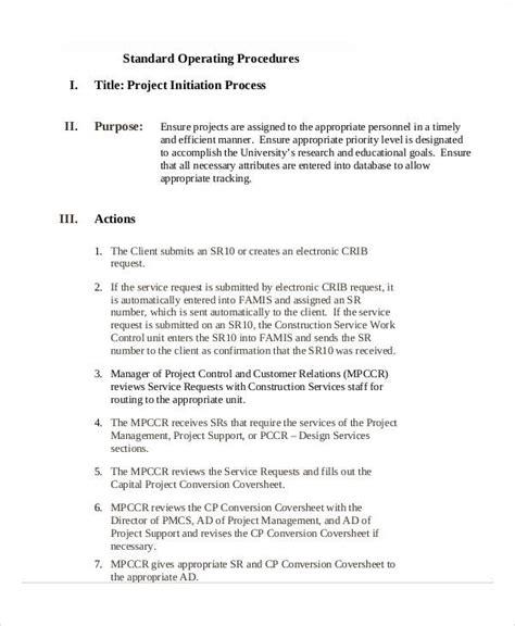 34 sop templates in pdf