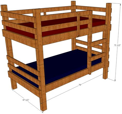 bunk bed plans save money and space by building your own bunk beds