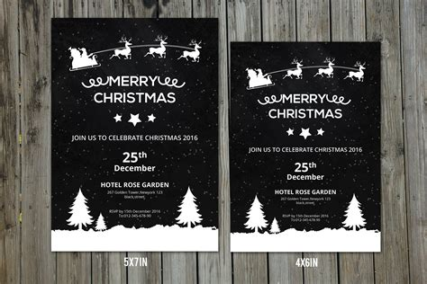 graphic design invitation templates christmas invitation flyer v154 flyer templates