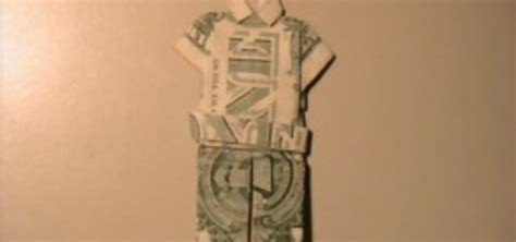 Origami Giraffe Dollar Bill - how to origami a dollar suit 171 origami wonderhowto