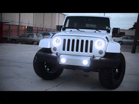 Jeep Halos Oracle Jeep Wrangler With White Leds