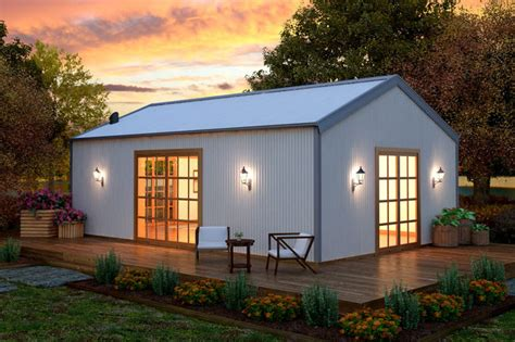 Steel Shed House by Steel Kit Homes 171 Sarwood Timbers