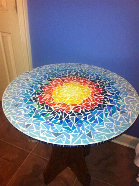Mosaic Patio Table Top Paper Mosaic Table Top Garden Patio Pinterest