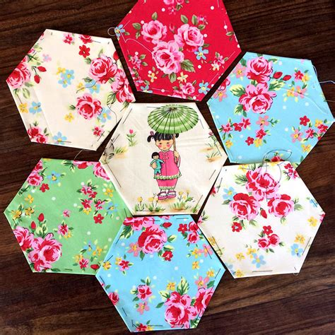 patchwork applique gorgeous chinoise applique hexagon patchwork cushion
