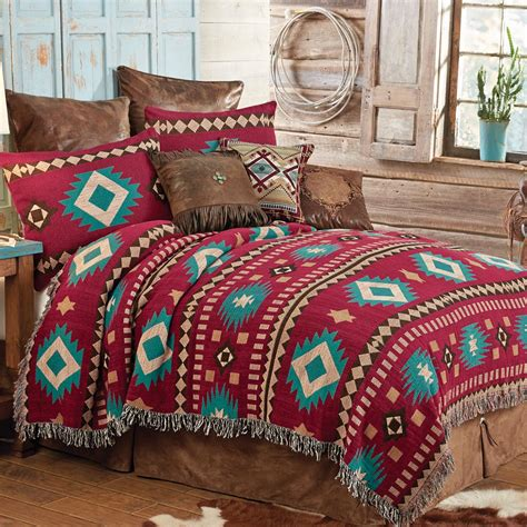 red coverlet king western bedding king size red rock desert southwestern