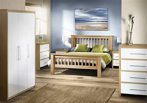 white gloss and oak bedroom furniture beds for everyone julian bowen