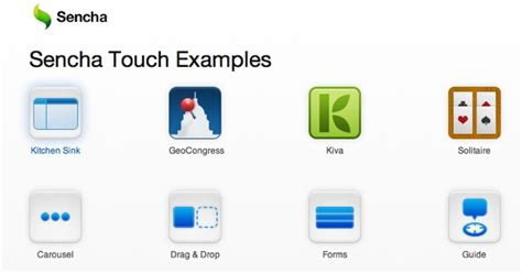 sencha touch the html5 mobile app framework