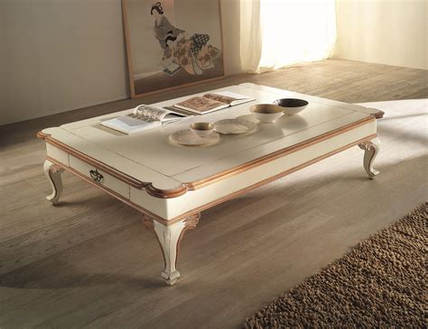 painted wood coffee table charme colors pote painted ivory wood