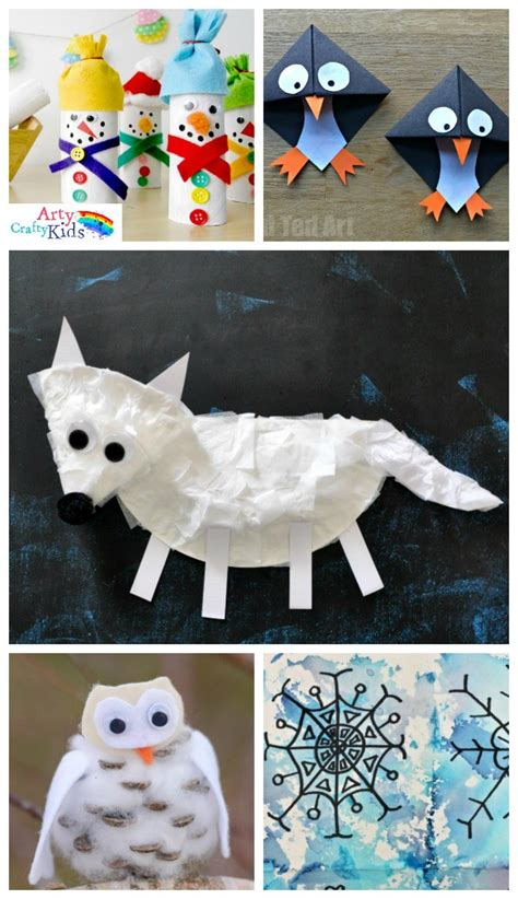 winter craft projects 16 easy winter crafts for arty crafty