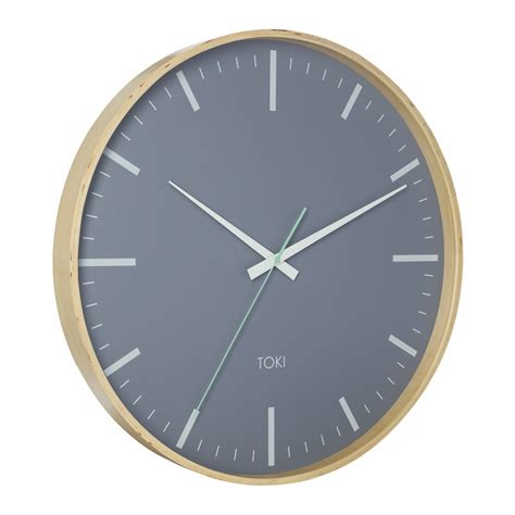 silent wall clocks buy toki helene wooden silent sweep wall clock 51cm online