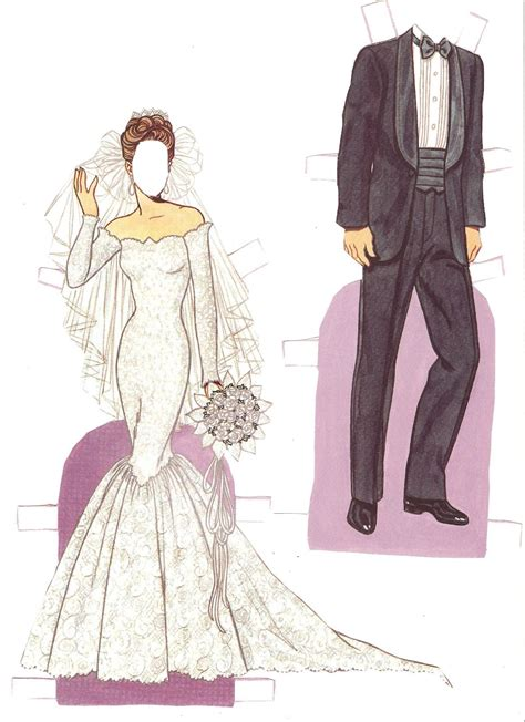 Paper Doll - miss paper dolls wedding fashion paper doll