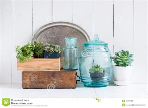 glass home decor vintage home decor stock photo image 42309161
