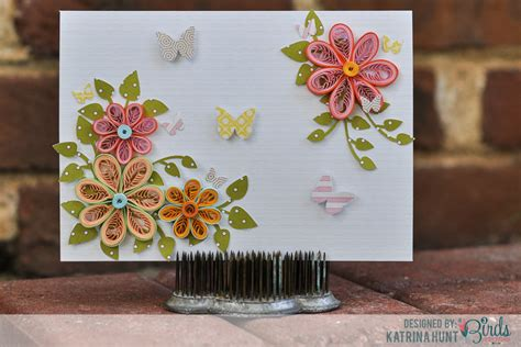 how to make card flowers quilled flower card and quilling comb 3birds studio