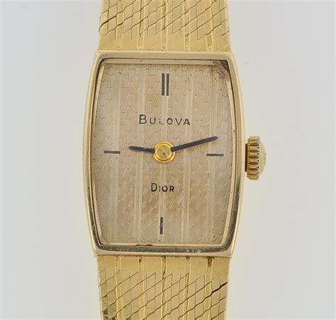 A Ladies' 14k Gold Bulova Dior Dress Watch , 03.05.10, Sold: $414