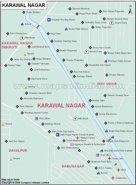Karawal Nagar Map