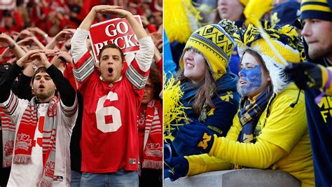 michigan football fan gear michigan vs ohio state football game tests love and