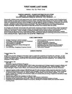 general manager resume sles general manager resume template premium resume sles