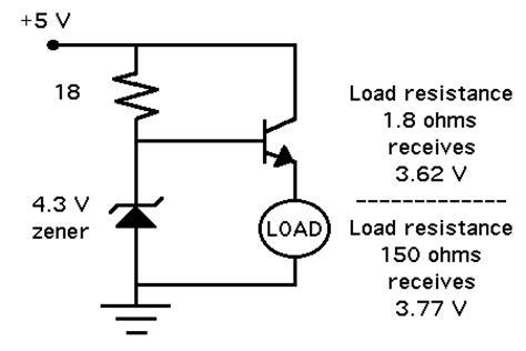 resistor zener regulator 3 7v regulator best method