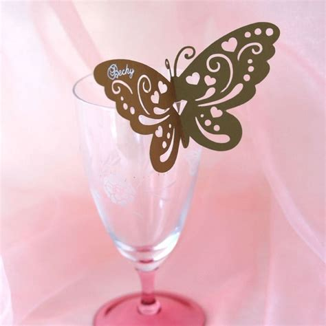 butterfly wine glass place card template how to make butterfly place cards with silhouette cameo