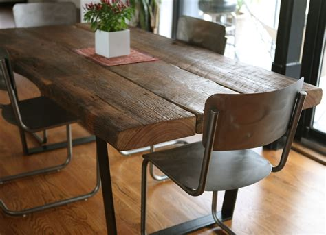 tisch vollholz custom reclaimed dining table by left to right furniture