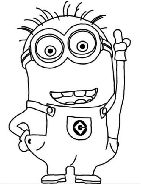 minion coloring pages easy simple minion coloring pages coloring pages pinterest